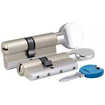 Цилиндровый механизм c вертушкой 164 YGSM/90 (45+10+35) mm никель 5 кл.